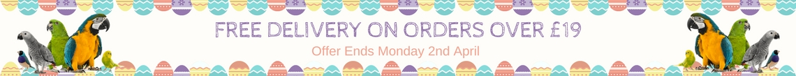 Easter Free Delivery Offer from Parrot Essentials